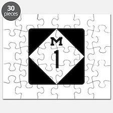 Woodward Avenue Route Shield - M1 Puzzle