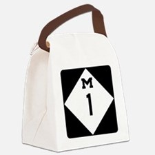 Woodward Avenue Route Shield - M1 Canvas Lunch Bag