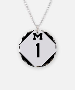Woodward Avenue Route Shield Necklace