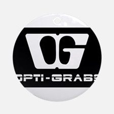 Opti-Grab dark AD Round Ornament