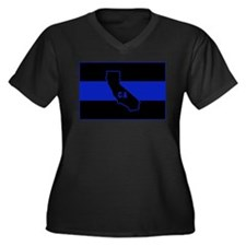 Thin Blue Line - California Plus Size T-Shirt