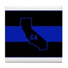 Thin Blue Line - California Tile Coaster