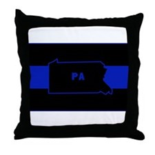 Pennsylvania Thin Blue Line Throw Pillow