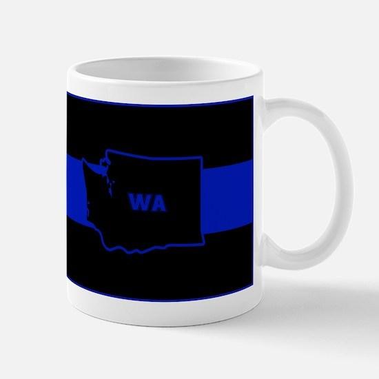 Thin Blue Line - Washington State Mugs