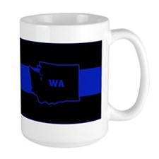 Thin Blue Line - Washington State Mugs
