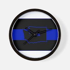Thin Blue Line - Washington State Wall Clock