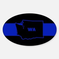 Thin Blue Line - Washington State Decal
