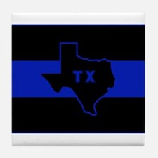 Thin Blue Line - Texas Tile Coaster