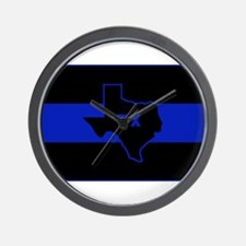 Thin Blue Line - Texas Wall Clock