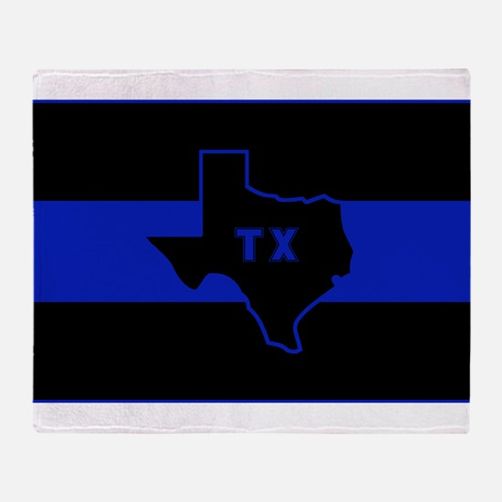 Thin Blue Line - Texas Throw Blanket