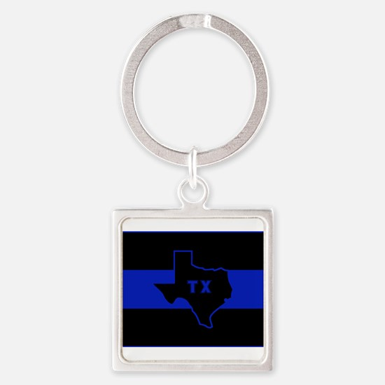 Thin Blue Line - Texas Keychains