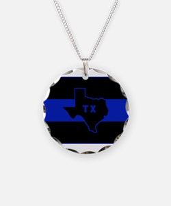 Thin Blue Line - Texas Necklace