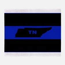 Thin Blue Line - Tennessee Throw Blanket