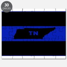 Thin Blue Line - Tennessee Puzzle