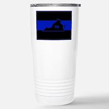 Thin Blue Line - Virgin Stainless Steel Travel Mug