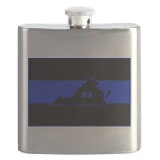 Thin Blue Line - Virginia Flask