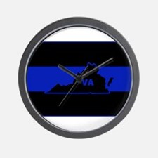 Thin Blue Line - Virginia Wall Clock