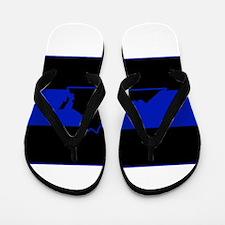 Thin Blue Line - Virginia Flip Flops