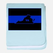 Thin Blue Line - Virginia baby blanket