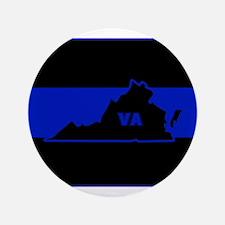 Thin Blue Line - Virginia Button