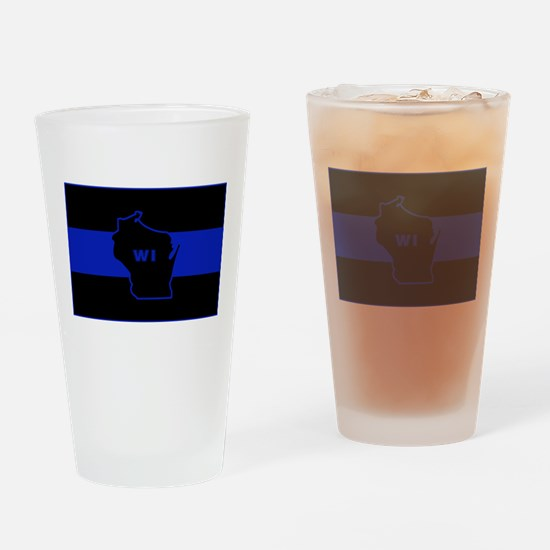 Thin Blue Line - Wisconsin Drinking Glass