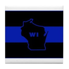 Thin Blue Line - Wisconsin Tile Coaster
