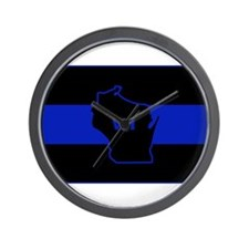 Thin Blue Line - Wisconsin Wall Clock