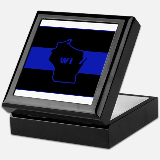 Thin Blue Line - Wisconsin Keepsake Box