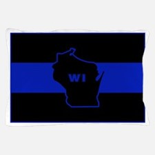 Thin Blue Line - Wisconsin Pillow Case