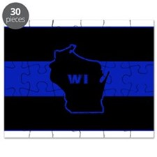 Thin Blue Line - Wisconsin Puzzle