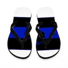 Thin Blue Line - Wisconsin Flip Flops