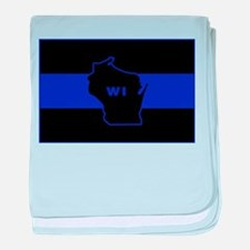 Thin Blue Line - Wisconsin baby blanket