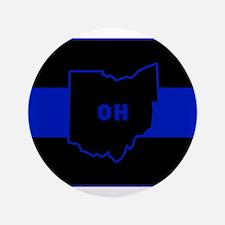 Thin Blue Line - Ohio Button
