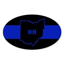 Thin Blue Line - Ohio Decal