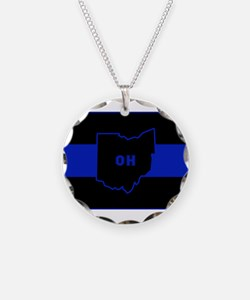 Thin Blue Line - Ohio Necklace