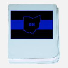 Thin Blue Line - Ohio baby blanket