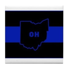 Thin Blue Line - Ohio Tile Coaster