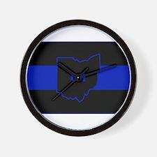 Thin Blue Line - Ohio Wall Clock