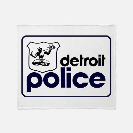 Old Detroit Police Logo Throw Blanket