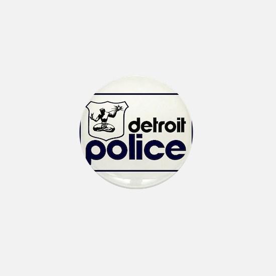 Old Detroit Police Logo Mini Button