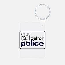 Old Detroit Police Logo Keychains