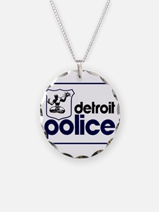 Old Detroit Police Logo Necklace