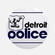 Old Detroit Police Logo Round Ornament