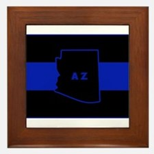 Thin Blue Line - Arizona Framed Tile