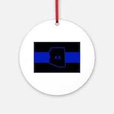 Thin Blue Line - Arizona Round Ornament