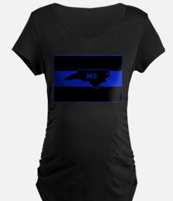 Thin Blue Line - North Carolina Maternity T-Shirt