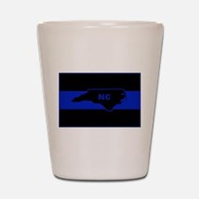 Thin Blue Line - North Carolina Shot Glass