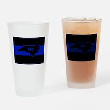 Thin Blue Line - North Carolina Drinking Glass