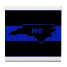Thin Blue Line - North Carolina Tile Coaster