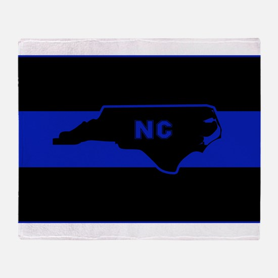Thin Blue Line - North Carolina Throw Blanket